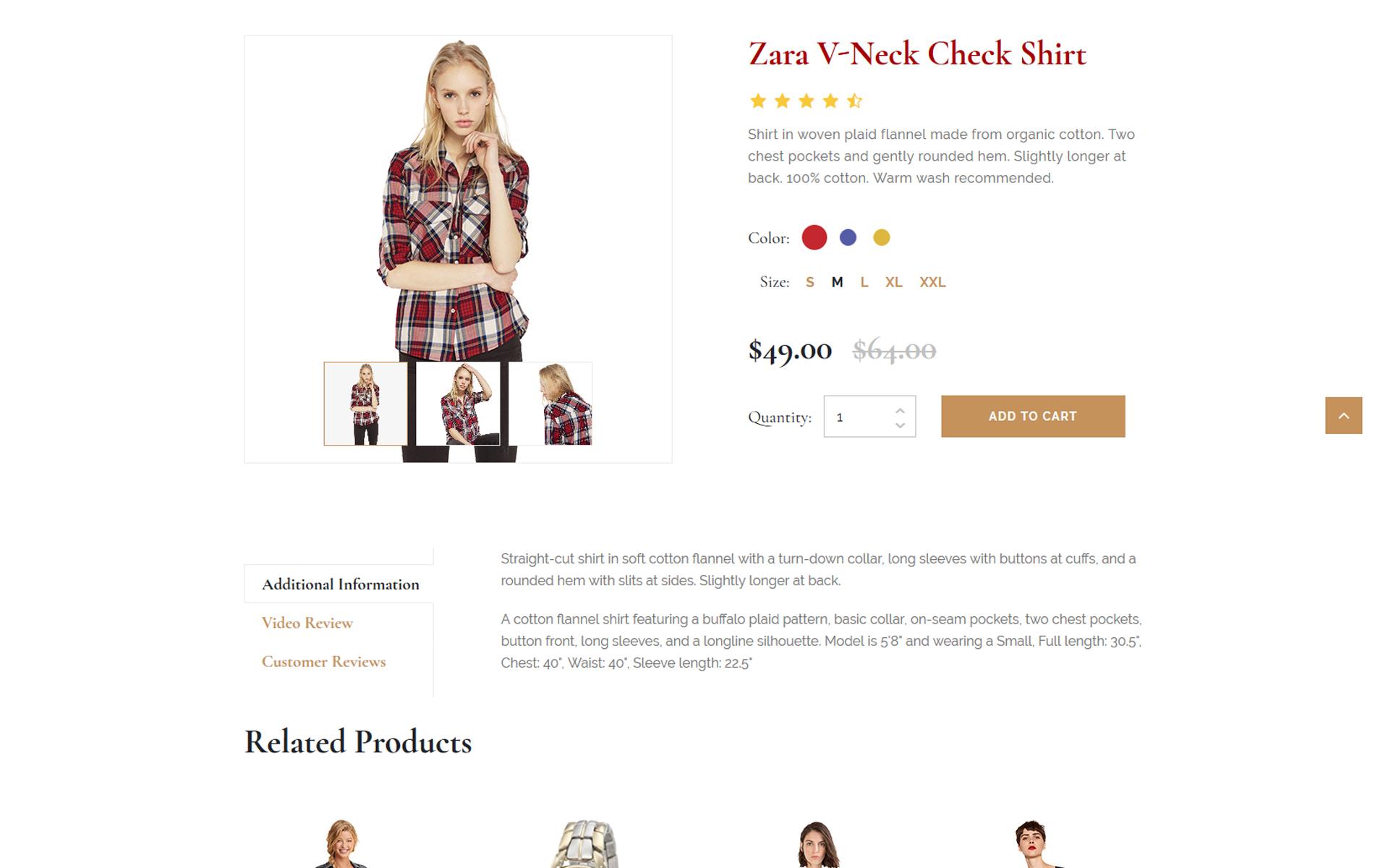 Fashion magazine website template 89