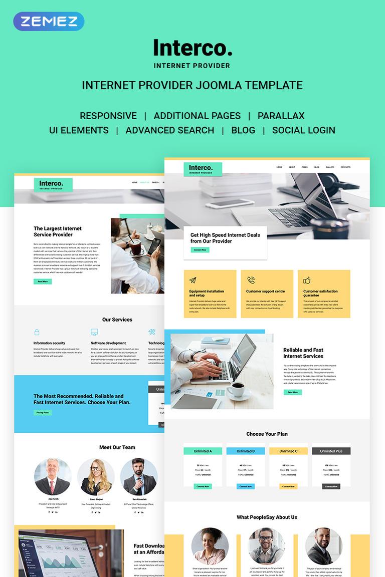 Interco Internet - Provider Joomla Template #71167