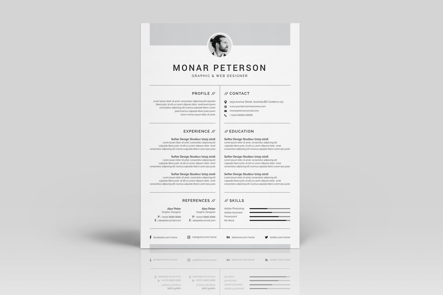 Luxusni Sablona Pro Zivotopis Monar Peterson 77208