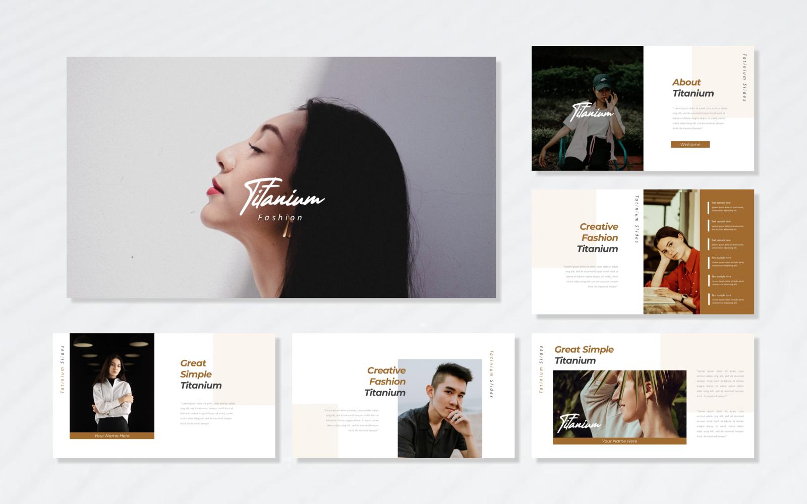 Titanium - Fashion PowerPoint Template