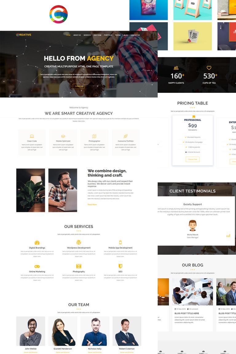 Plantilla para Página de Aterrizaje #69256 para Sitio de Diseño Web