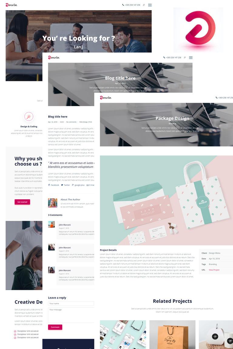 Plantilla para Página de Aterrizaje #73593 para Sitio de Diseño Web
