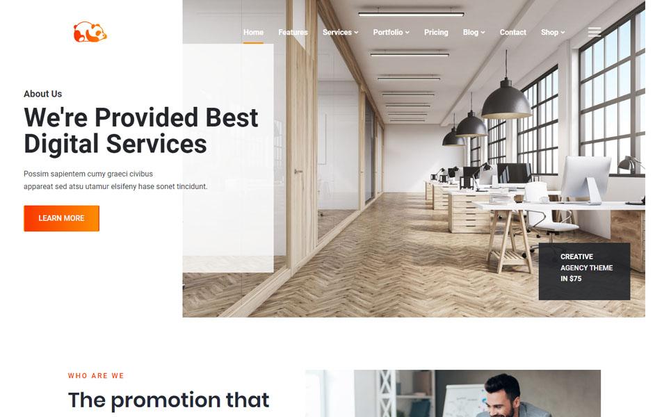 Pandu- Creative Portfolio & Agency WordPress Theme