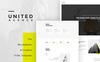 """Responzivní Šablona webových stránek """"UNITED - portfolio HTML"""" Velký screenshot"""