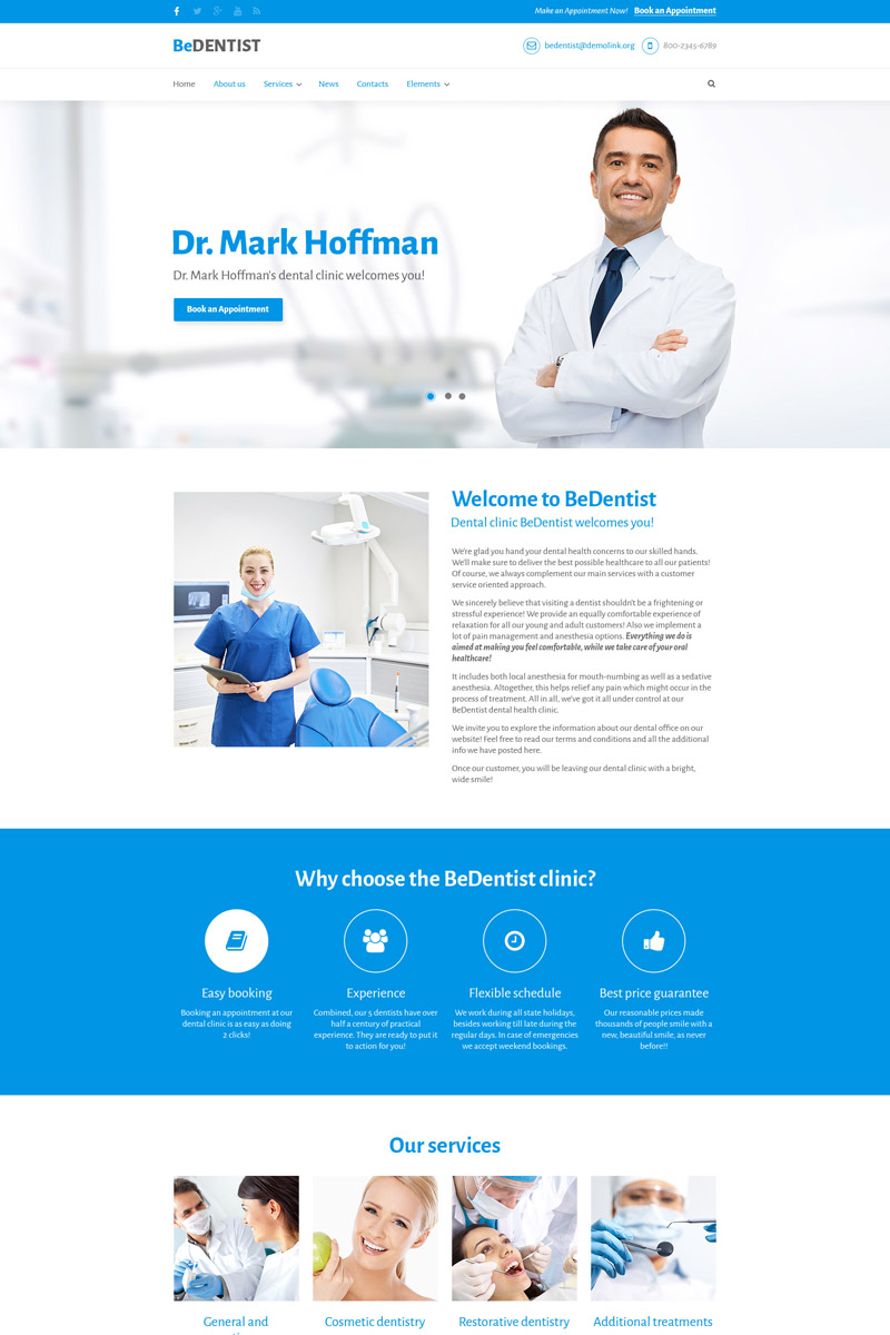 bedentist dentist medical premium drupal template 64649