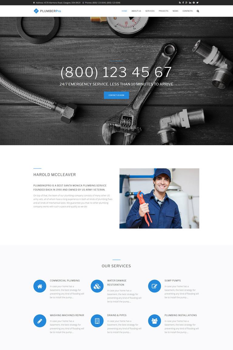 Plumberpro - Plumbing Service Premium Drupal Template