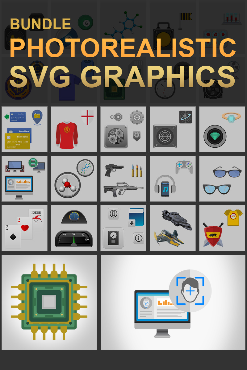 Photorealistic SVG Graphics Bundle #68540