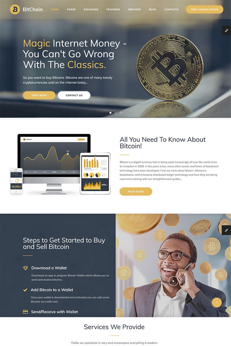 BitChain Pro - Mining & Crypto Currency Exchange WordPress Theme