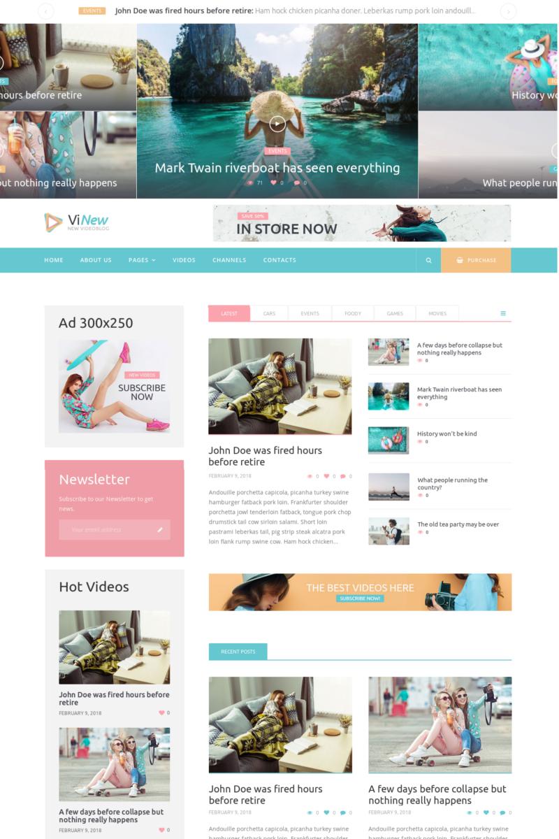 Адаптивный шаблон №73416 на тему бизнес и услуги, медиа-сайт, новостной портал