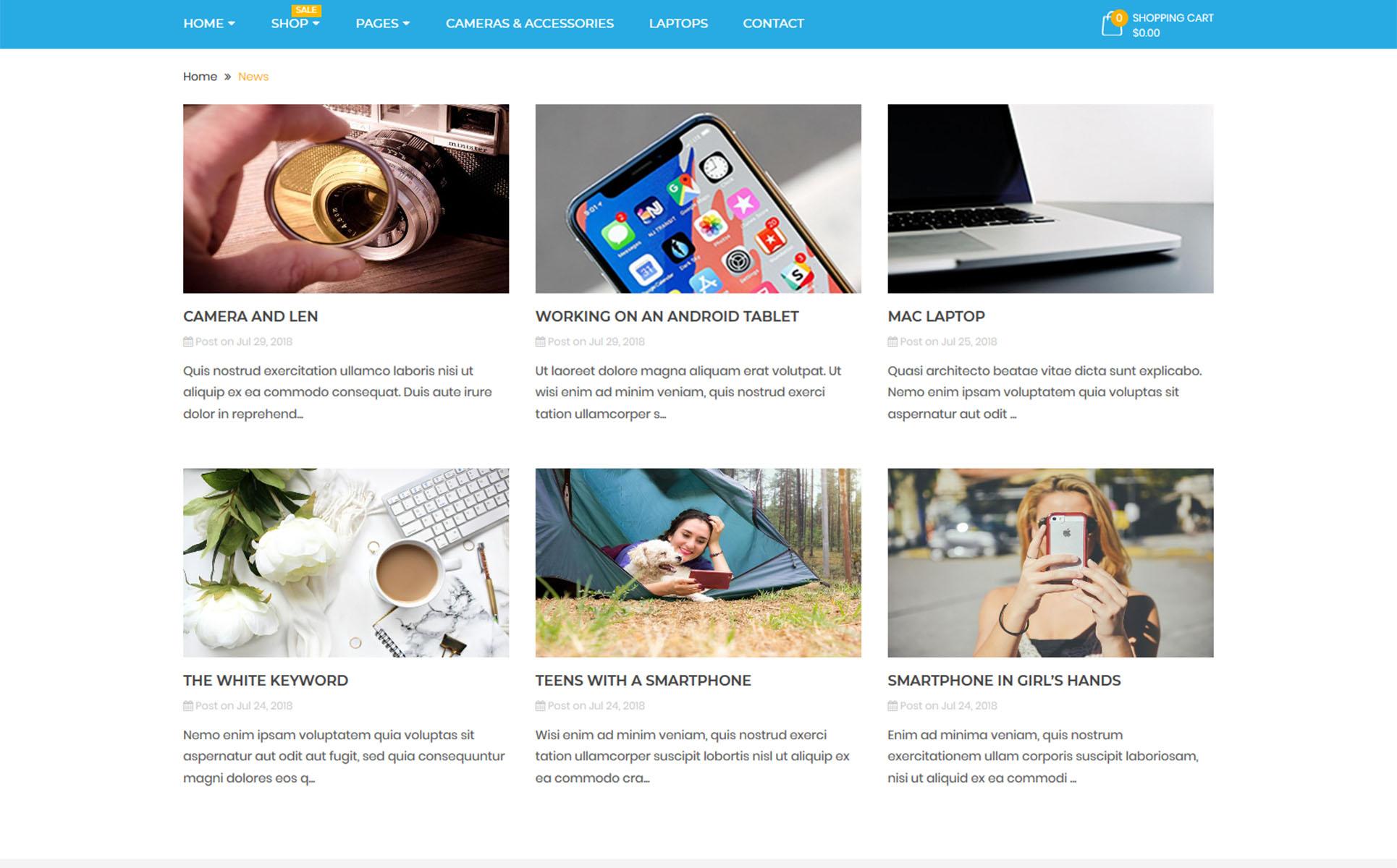 Shopify Theme für Handyladen