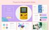 Pop PowerPoint sablon Nagy méretű képernyőkép