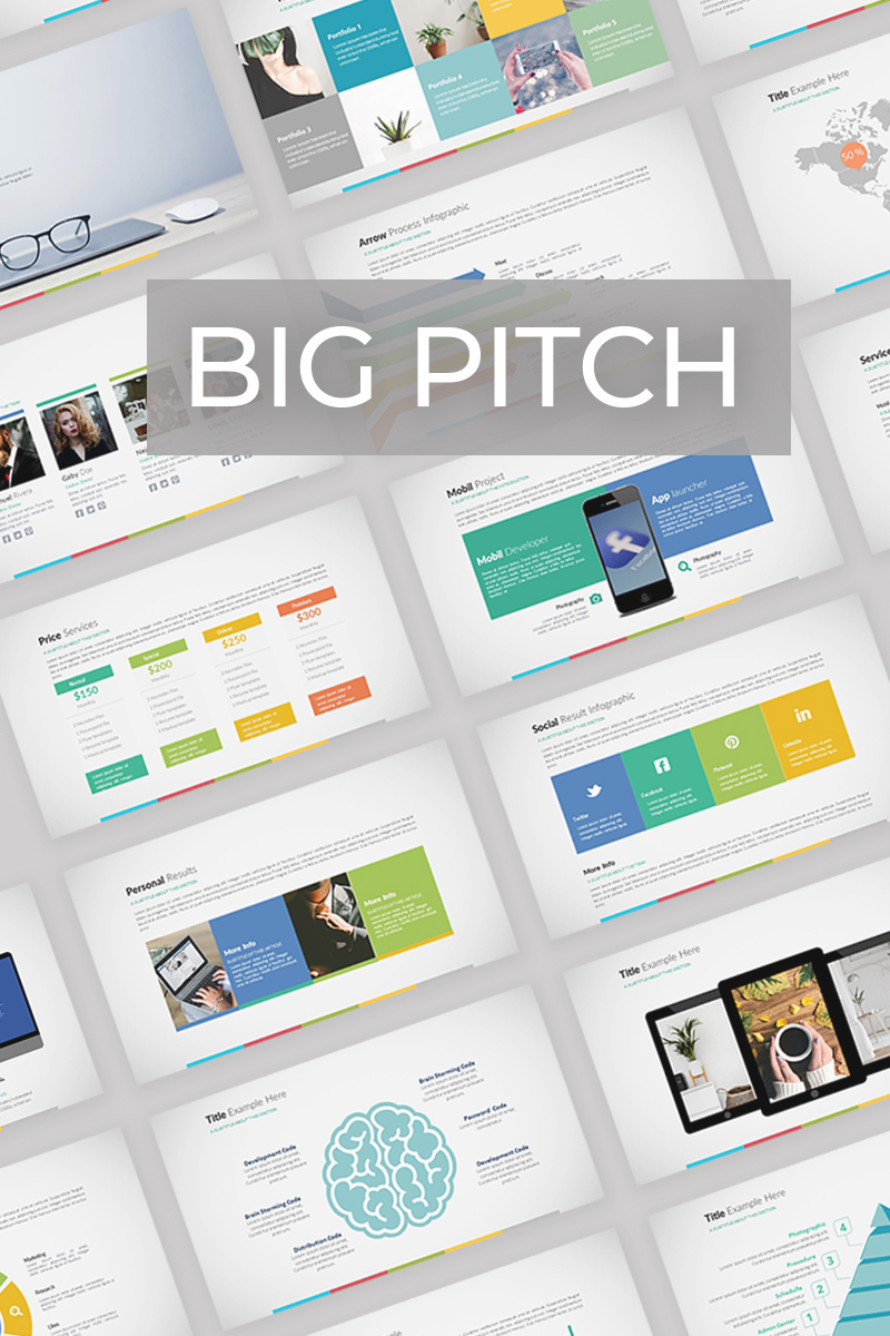 big pitch powerpoint template 74244