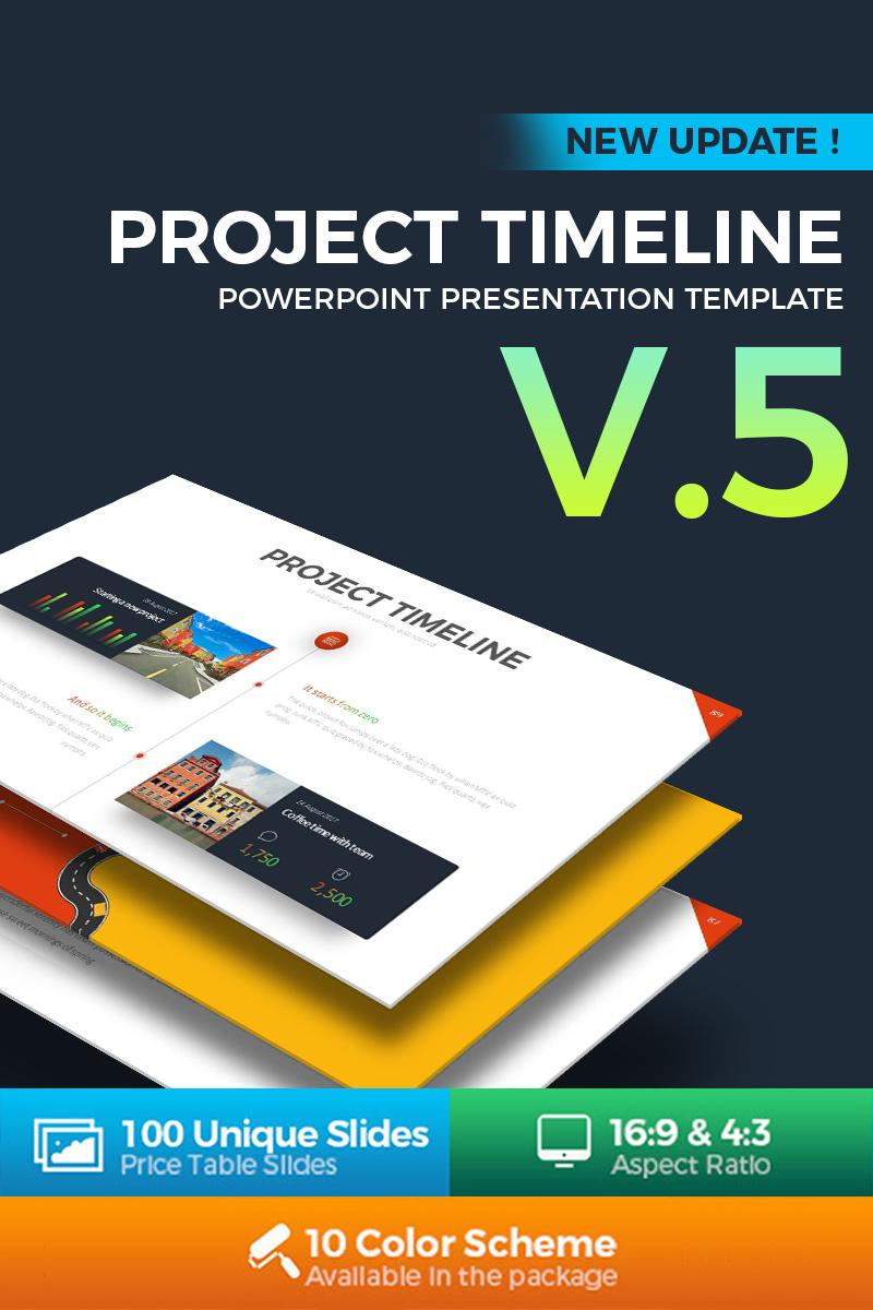 Project timeline v5 powerpoint template 68588 toneelgroepblik Gallery