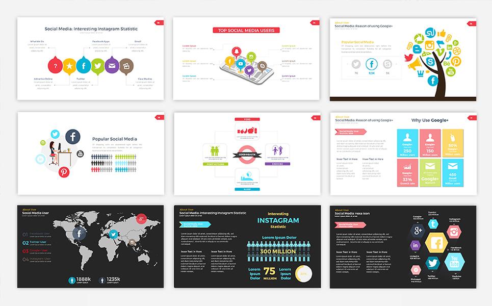Social media user infographic powerpoint template 68765 zoom in toneelgroepblik Choice Image