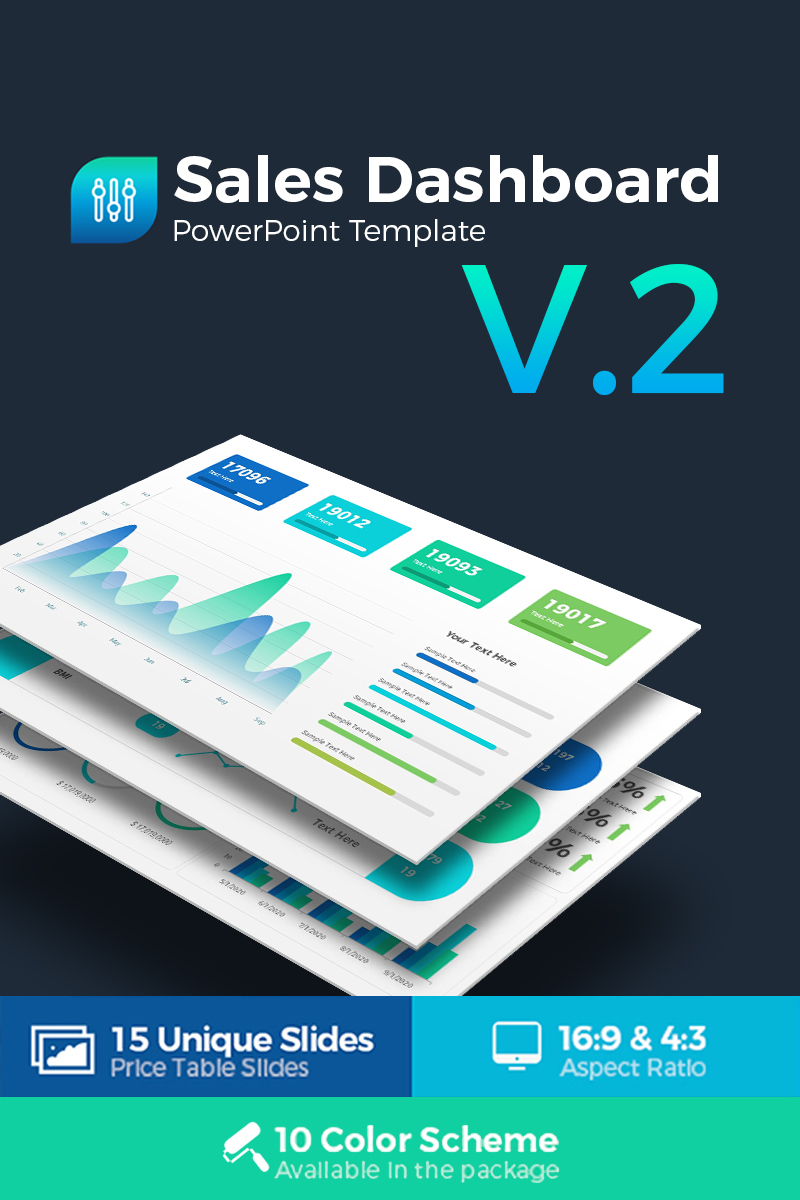 sales dashboard presentation powerpoint template 68711