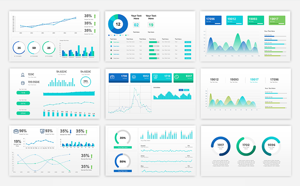 Sales Dashboard Presentation PowerPoint Template Big Screenshot