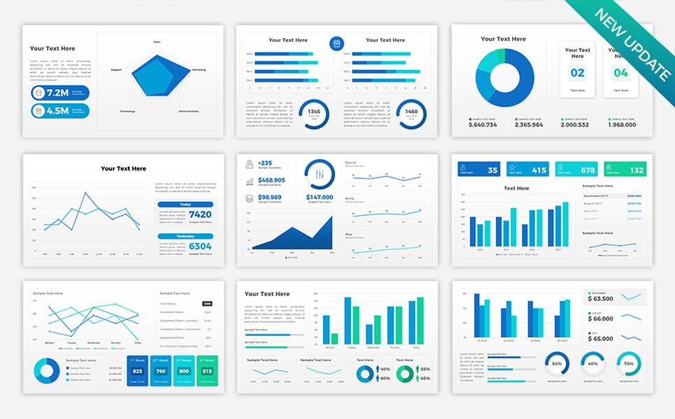 sales dashboard presentation powerpoint template 68711 rh templatemonster com Microsoft Office Dashboard Template Dashboard Slide