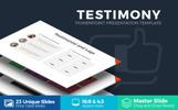 Testimony Presentation PowerPoint sablon
