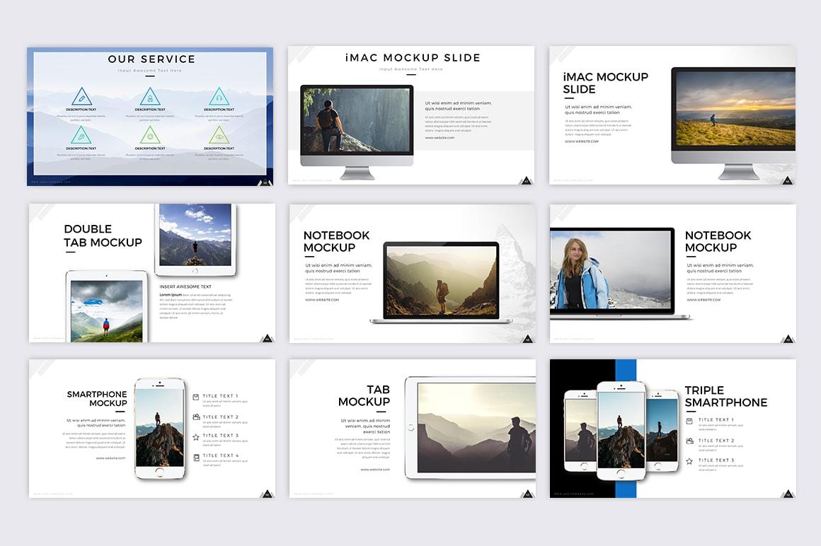 Plantilla PowerPoint #70678 para Sitio de Fotografía
