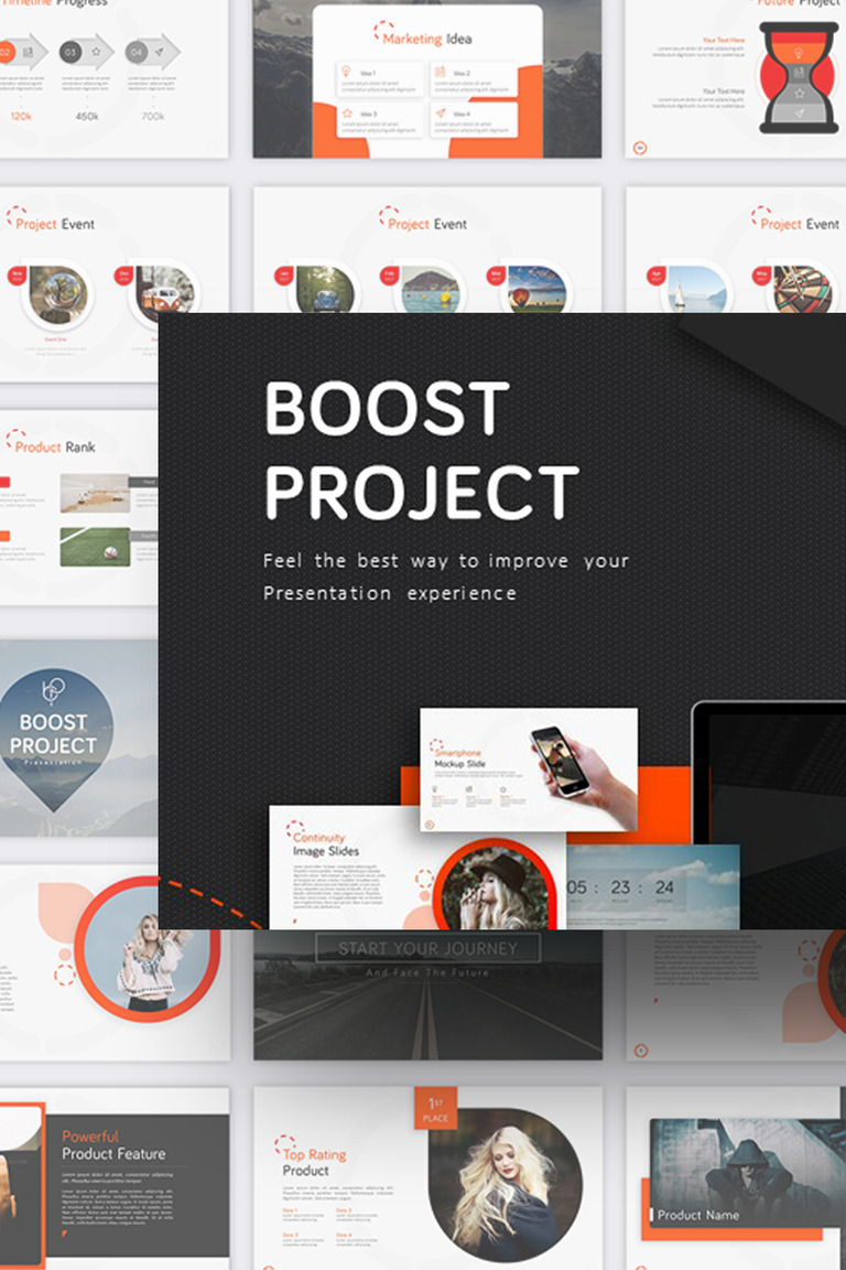 boost project powerpoint template 70839