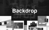 Backdrop - Black and White PowerPoint Template Big Screenshot