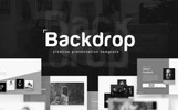 "PowerPoint Vorlage namens ""Backdrop - Black and White"""