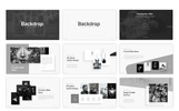 Backdrop - Black and White PowerPoint Template
