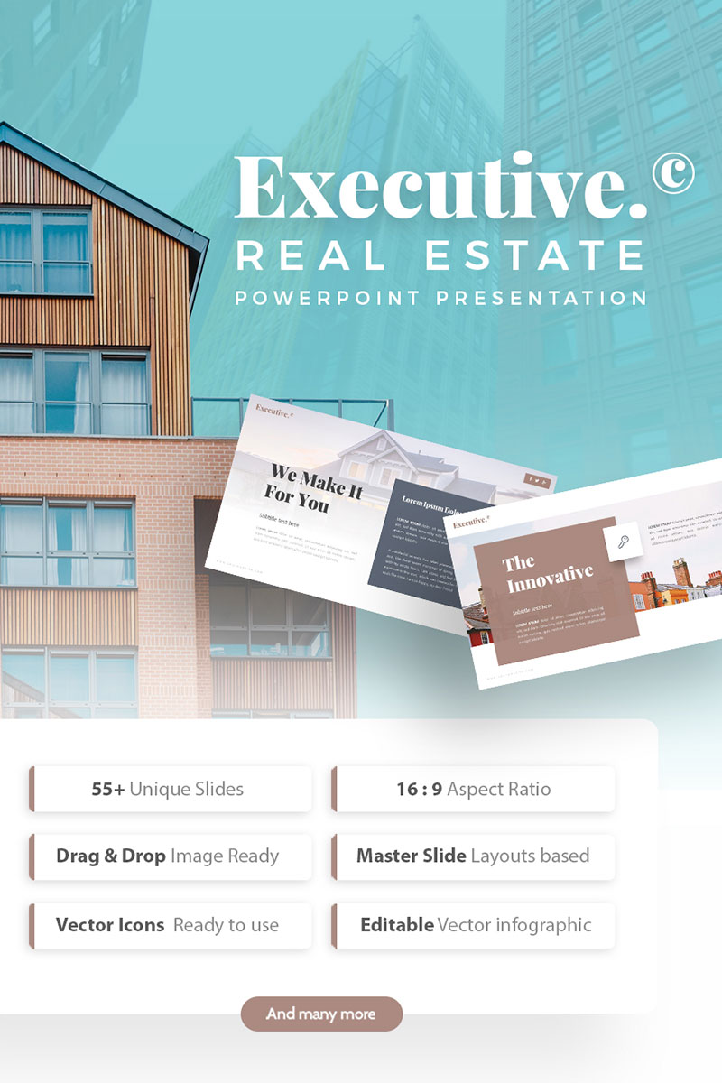 executive real estate powerpoint template 75321