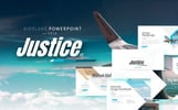 Justice - Airplane Powerpoint Template PowerPoint Template