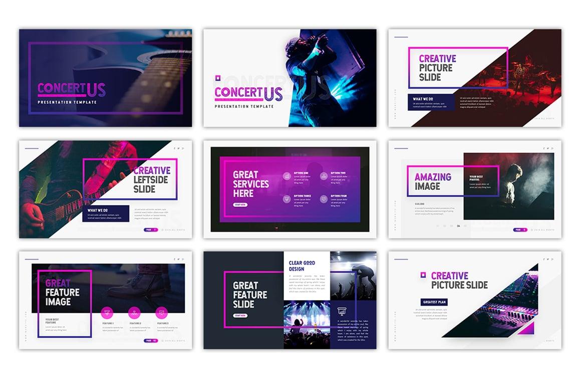 concertus event powerpoint template 75492. Black Bedroom Furniture Sets. Home Design Ideas