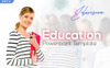 Eduvision - Education PowerPointmall En stor skärmdump