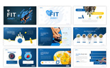 "Tema PowerPoint #80232 ""Fit Journey - Sporty"""