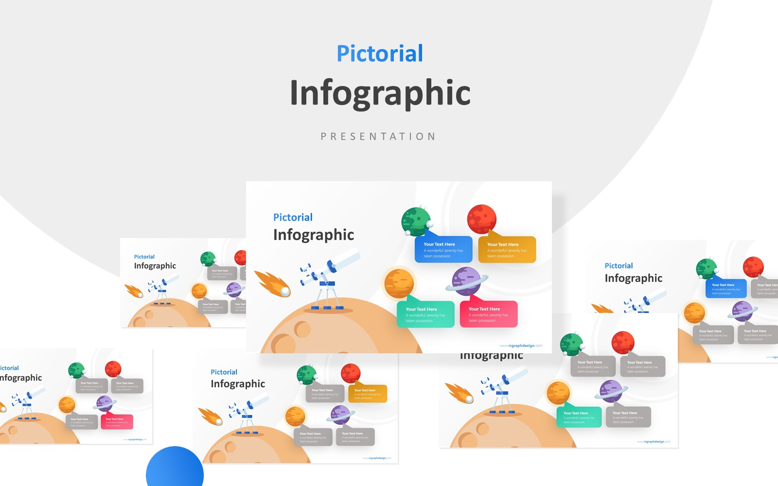 Planet and Telescope Infographic Presentation PowerPoint Template