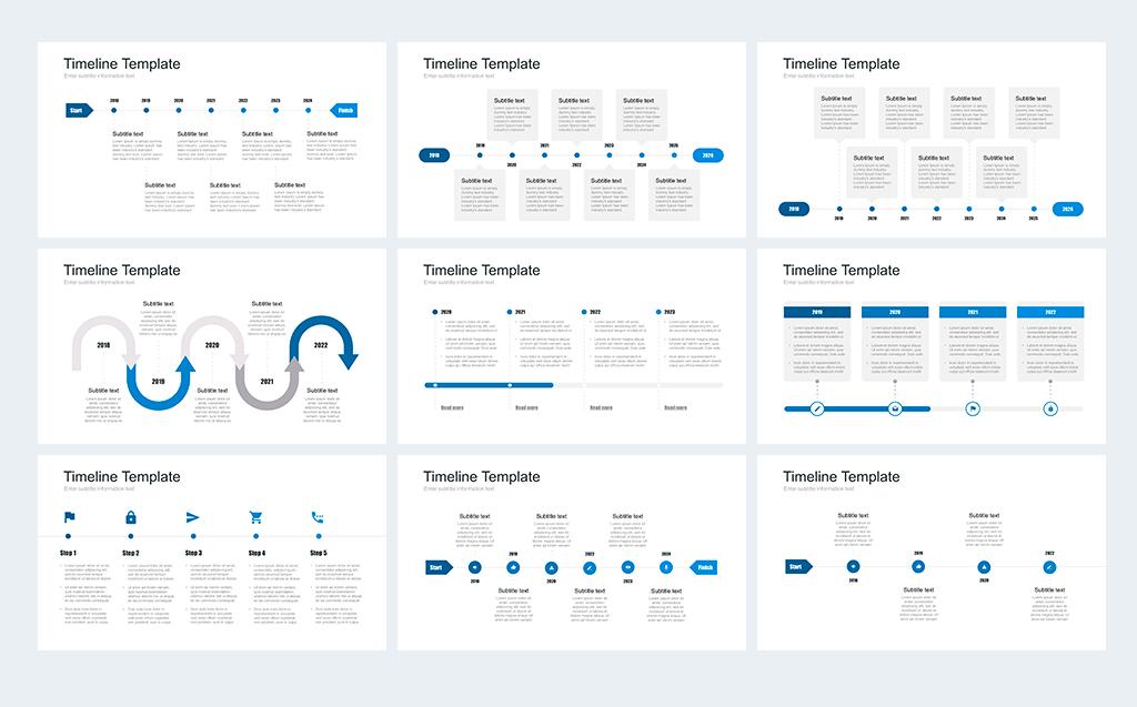 Timeline pack for powerpoint powerpoint template 67735 zoom in toneelgroepblik Images