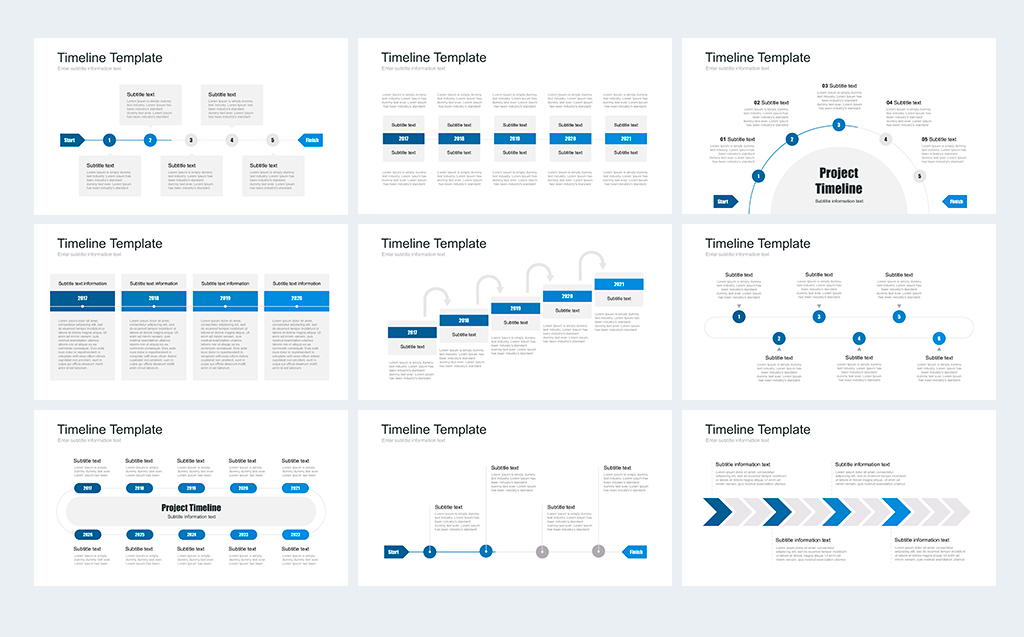 Timeline Pack For Keynote Template