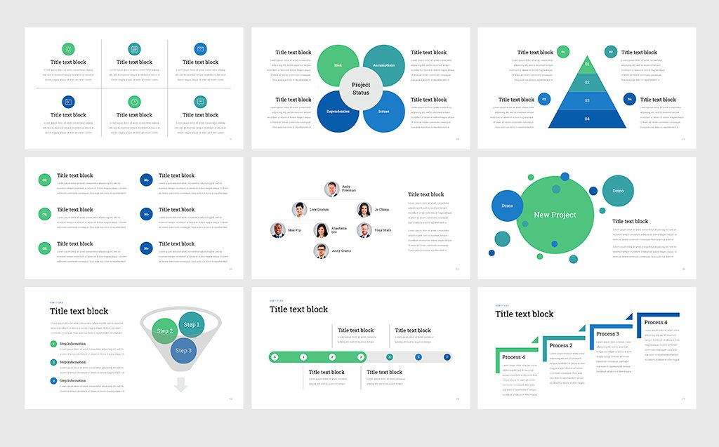 project status professional powerpoint template 68531