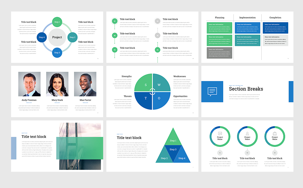 Project status professional powerpoint template 68531 zoom in toneelgroepblik Image collections