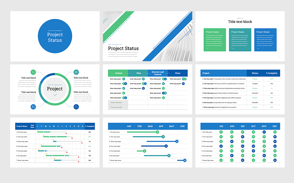 Project Status For Keynote Template Screenshot
