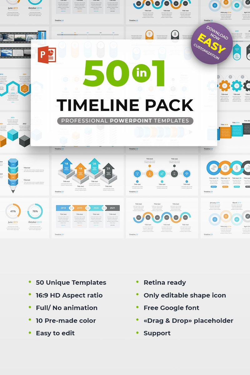Timeline pack 50 in 1 powerpoint template 68971 toneelgroepblik Gallery