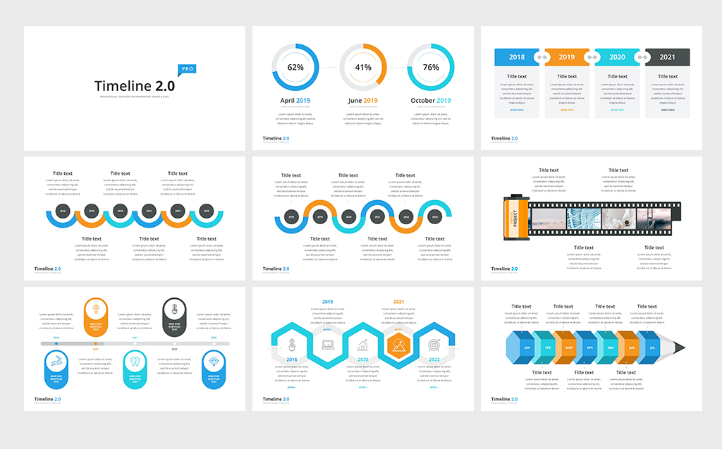 Timeline Pack 50 In 1 Powerpoint Template  68971
