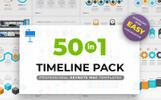 Timeline Pack 50 in 1 Keynote sablon
