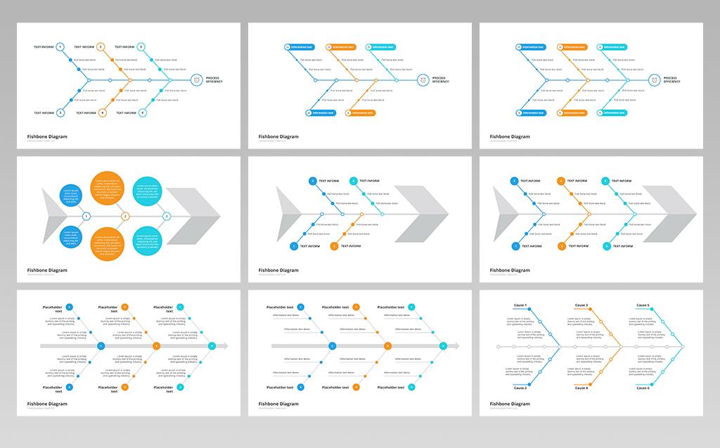 Fishbone Ishikawa Diagram Powerpoint Template 70097