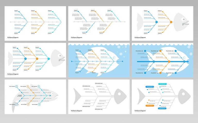 Fishbone ishikawa diagram powerpoint template 70097 fishbone ishikawa diagram powerpoint template big screenshot ccuart Choice Image