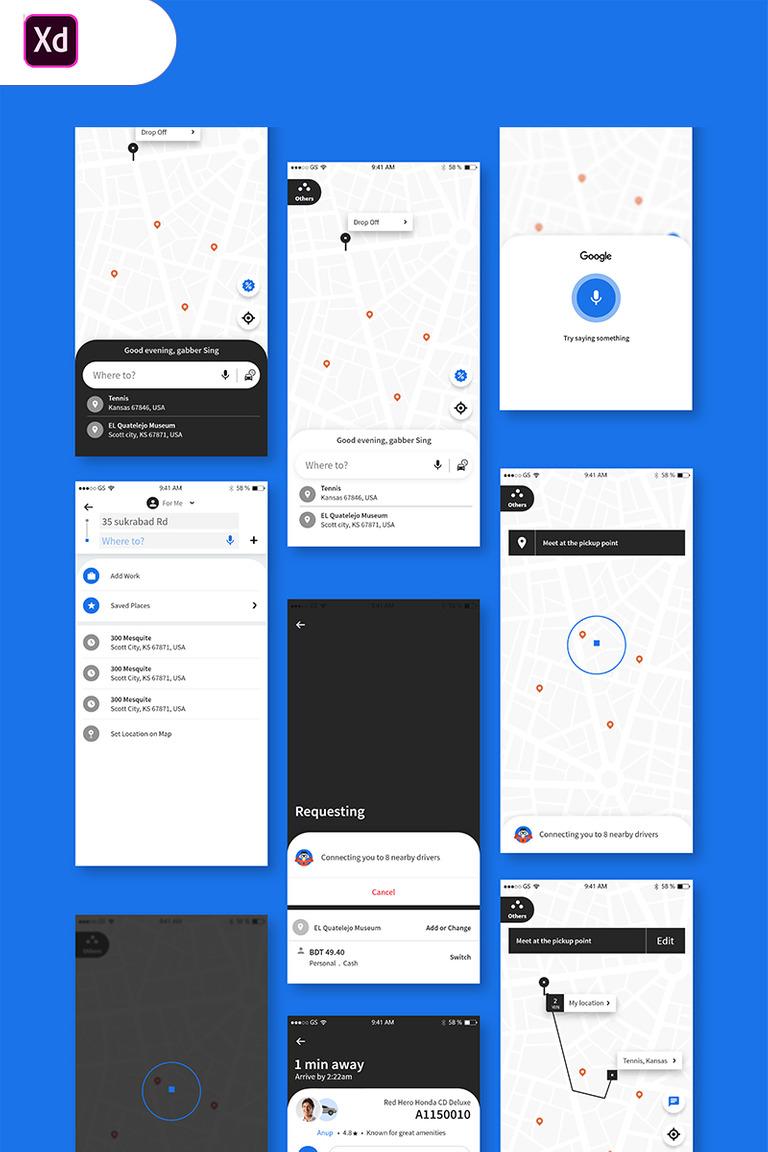 Uber Travel UI App UI Elements