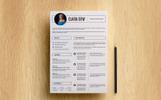 Clara Dew Resume Template