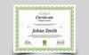"""Šablona certifikátu  """"Johan Smith Appreciation"""" Velký screenshot"""
