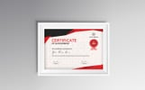 Red&Gray Achievement Certificate Template