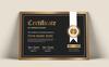 """Modello di certificato #81230 """"Black & Gold"""" Screenshot grande"""