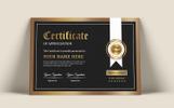 """Modello di certificato #81230 """"Black & Gold"""""""