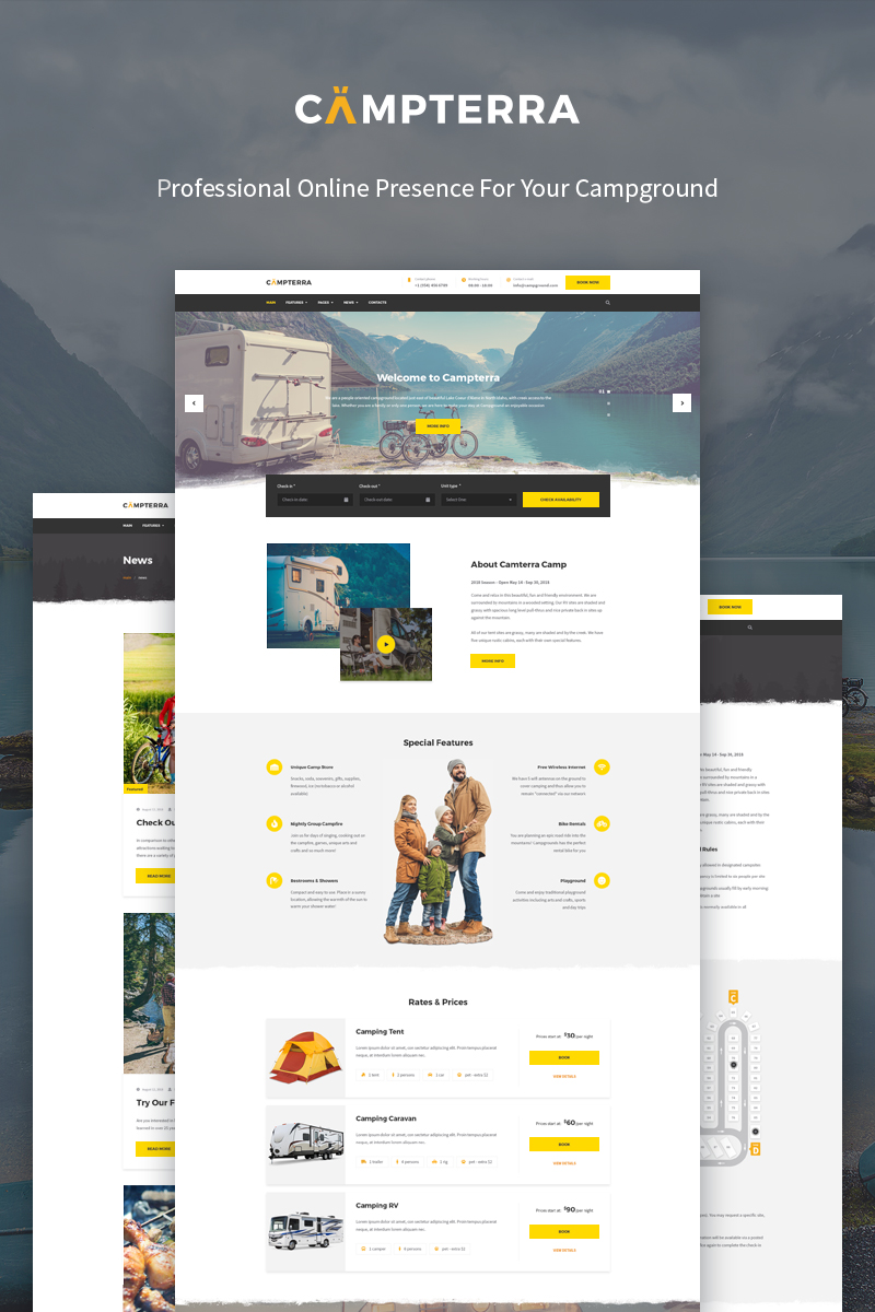 Campterra Camping WordPress Theme